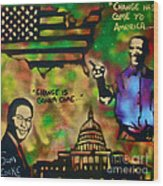 Barack And Sam Cooke Wood Print