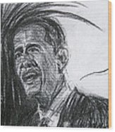 Barack Obama 1 Wood Print