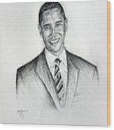 Barack Obama 2 Wood Print