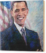 Barack Obama Wood Print by Viola El