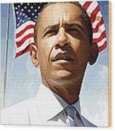Barack Obama Artwork 1 Wood Print by Sheraz A
