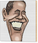 Barack Obama Wood Print by Bill Proctor