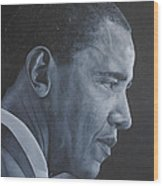Barack Obama Wood Print by David Dunne
