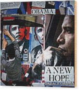 Barack Obama Wood Print by Isis Kenney