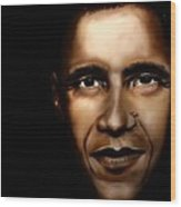 Barack Obama - New Day Wood Print