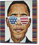 Barack Obama Wood Print by Nuno Marques