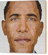 Barack Obama Wood Print by Samuel Majcen