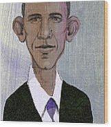Barack Obama Wood Print by Steve Dininno