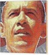 Barack Obama American President - Red White Blue Wood Print