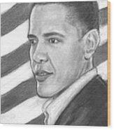 Barack Wood Print by Sue Carmicle