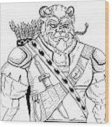 Baragh The Warrior Wood Print