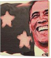 Barak Obama Wood Print by Parvez Sayed