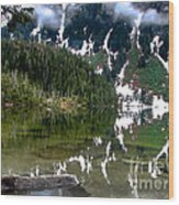 Baranof Lake Wood Print
