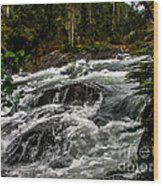 Baranof River Wood Print