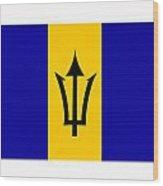 Barbados Flag  Wood Print