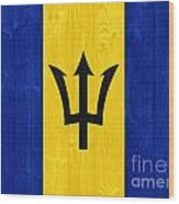 Barbados Flag Wood Print