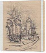 Barbakan Cracow Wood Print