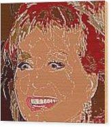Barbara Walters Wood Print