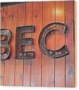 Barbecue Wood Print by Randall Weidner