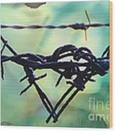 Barbed Wire Love-jealousy 2 Wood Print