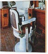 Barber - Barber Chair And Cash Register Wood Print