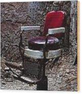Barber Chair Wood Print