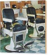 Barber - Corner Barber Shop Wood Print