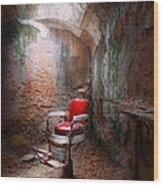 Barber - Eastern State Penitentiary - Remembering My Last Haircut  Wood Print by Mike Savad