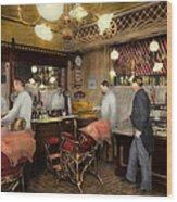 Barber - L.c. Wiseman Barbershop Ny 1895 Wood Print