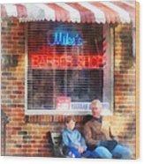 Barber - Neighborhood Barber Shop Wood Print