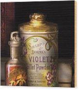 Barber -  Sharp And Dohmes Violet Toilet Powder  Wood Print
