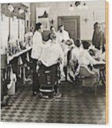 Barber Shop, 1920 Wood Print