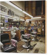 Barber Shop In Montgomery Alabama Wood Print