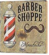 Barber Shoppe 1 Wood Print