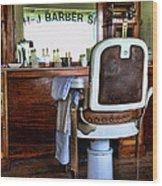 Barber - The Barber Shop Wood Print