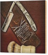 Barber - Tools For A Close Shave  Wood Print