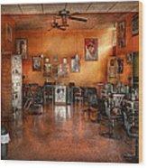 Barber - Union Nj - The Modern Salon  Wood Print