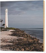 Barbers Point Lighthouse Wood Print by Jason Bartimus