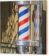 Barbershop Wood Print