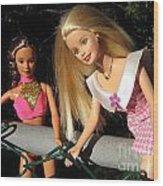 Barbie Escapes Wood Print
