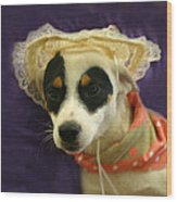 Barbie In A Hat Wood Print