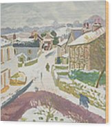 Barbon In The Snow Wood Print
