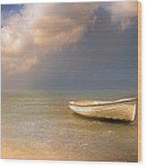 Barca De Marisqueo Wood Print