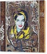 Barcelona Graffiti 3 Wood Print