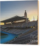 Barcelona Olympic Stadium Wood Print