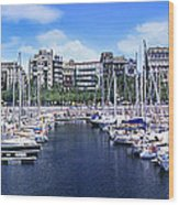 Barcelona Spain Port Vell Marina 3 Wood Print