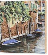 Barche A Venezia Wood Print