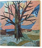 Bare Branches At Dusk Wood Print