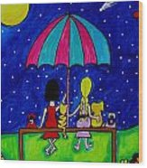 Barefoot Best Friend Wish Upon A Star Wood Print