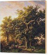 Barend Cornelis Koekkoek Bosgezicht 1848 Wood Print